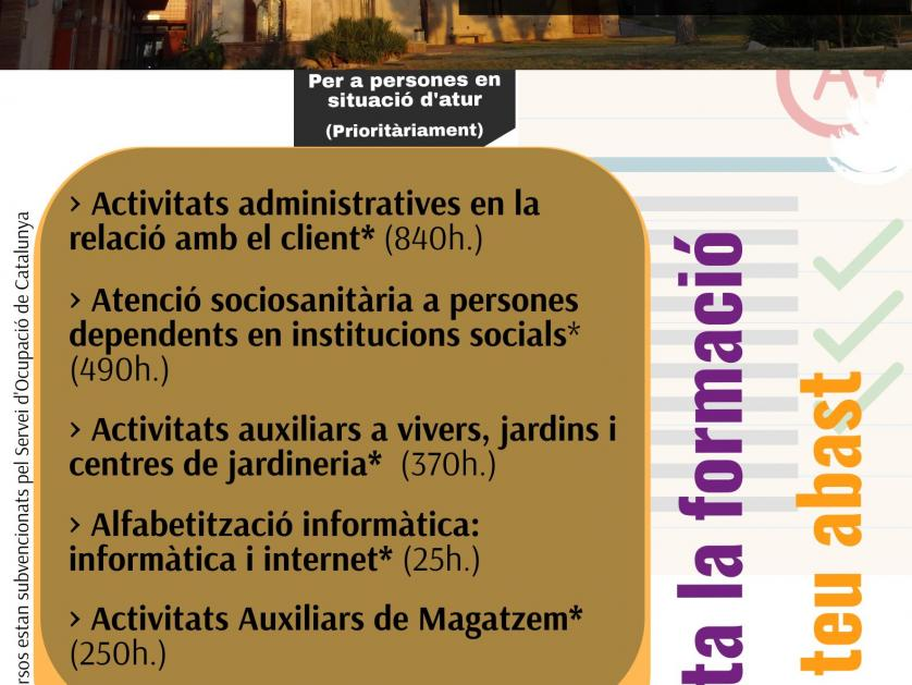 Nuevos Cursos De Formacion Profesional Para El Empleo 2021 Aprobados Barbera Promocio