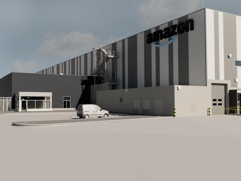 Imagen virtual del futuro centro de distribución de Amazon en Barberà del Vallès. Crédito de la fotografía: Europa Press